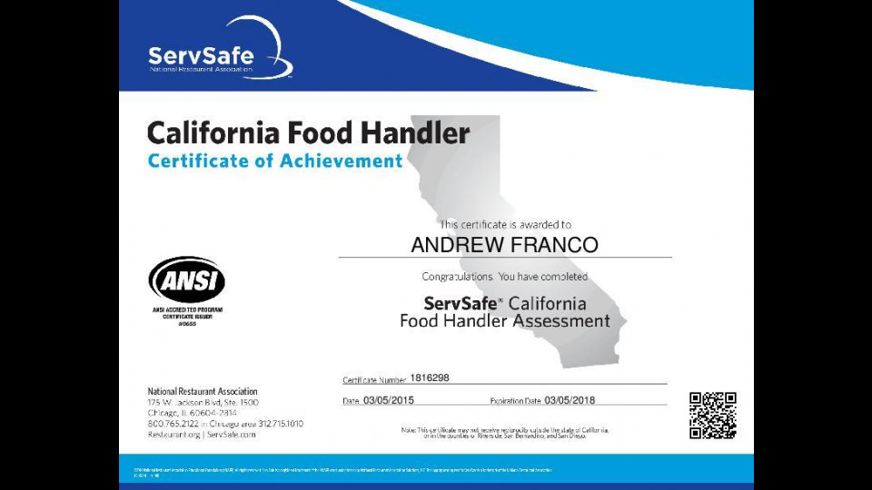 Food Handler Certification Region Of Peel Satukisfo