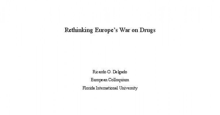War on drugs research paper topics
