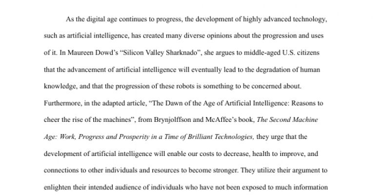 Write my artificial intelligence thesis proposals