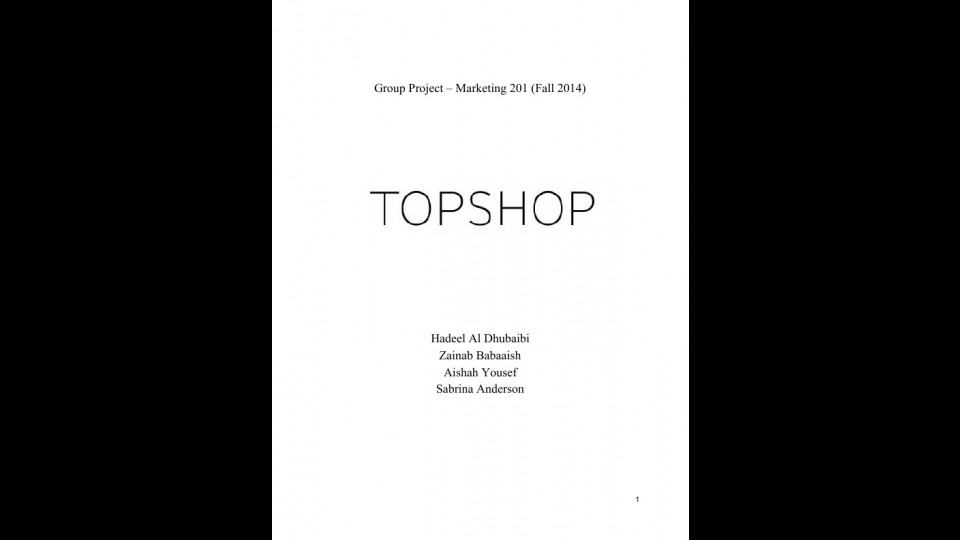 topshop business strategy
