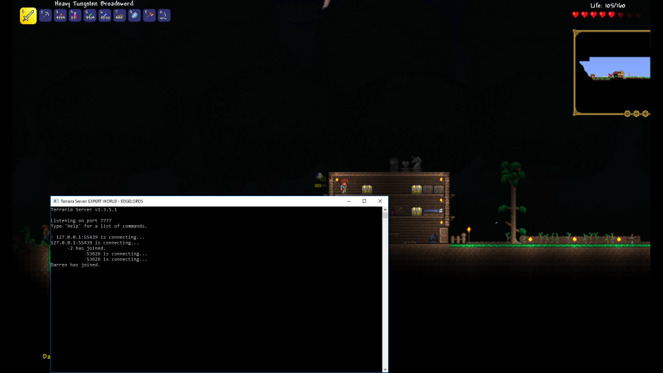 Portforwarding Virtual Game Servers Terraria Portfolium