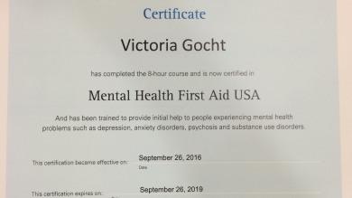 Certificate Portfolium
