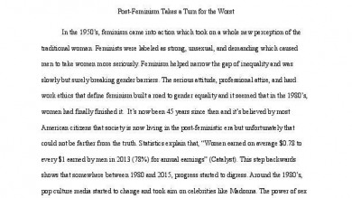 independent portfolium post feminism essay