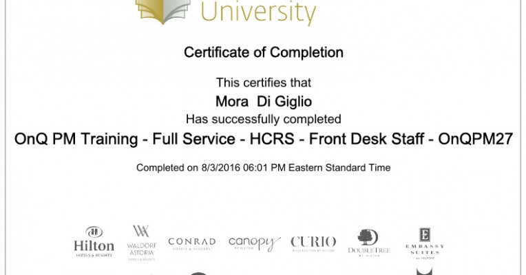 hilton worldwide university onq