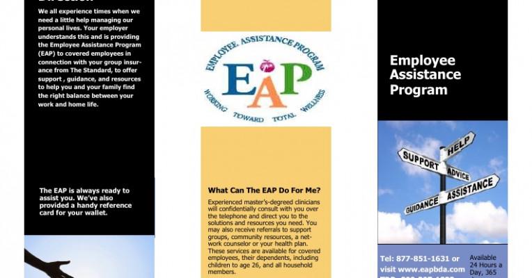 flyer for new employee assistance program powered by portfolium