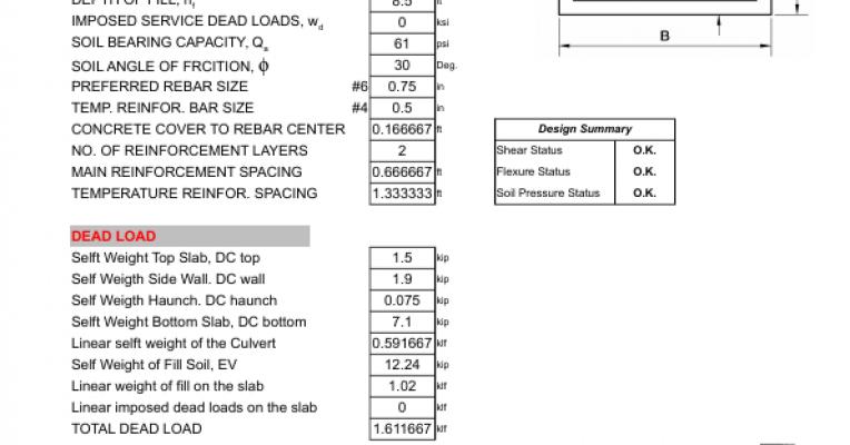 Senior Project Box Culvert Spreadsheet - Powered by Portfolium