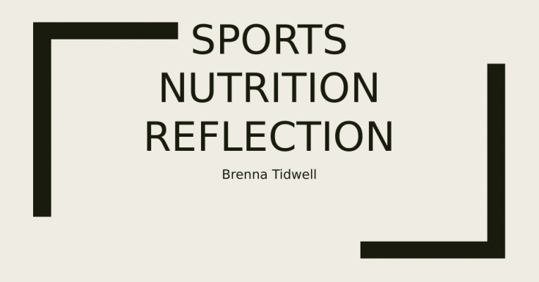 reflection of nutrition Nutrition case study - free download as word doc (doc), pdf file (pdf), text file (txt) or read online for free.