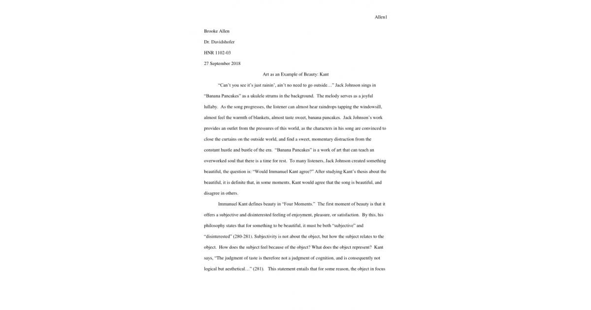 Choice Essay Example  What Are Good Persuasive Essay Topics also Good Essay Titles Essaykants Philosophy Of Beauty In Todays World  Portfolium Early Childhood Essay