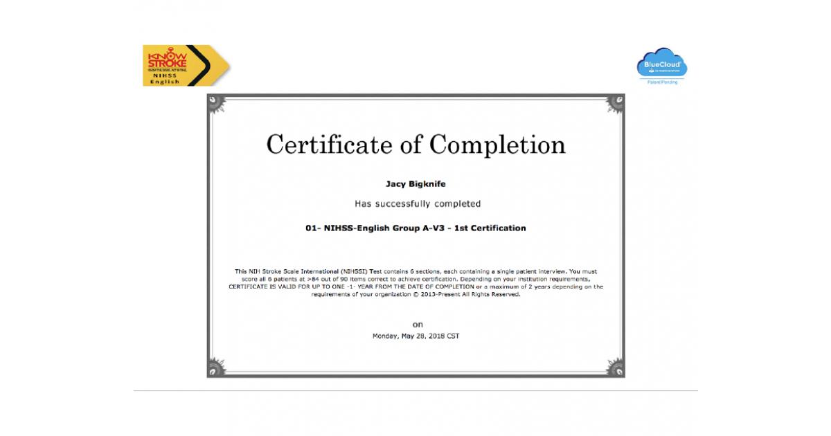 nih scale certification nihss stroke pdf portfolium