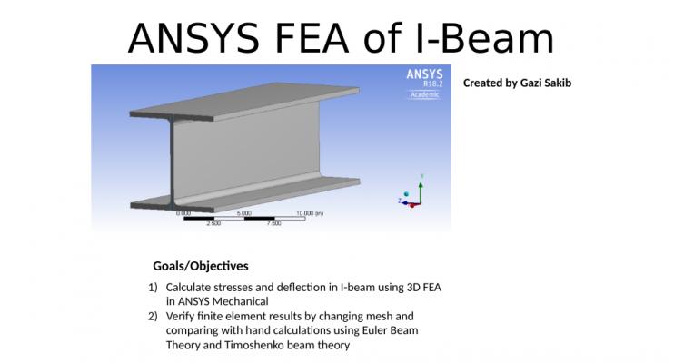 I-Beam FEA | Portfolium